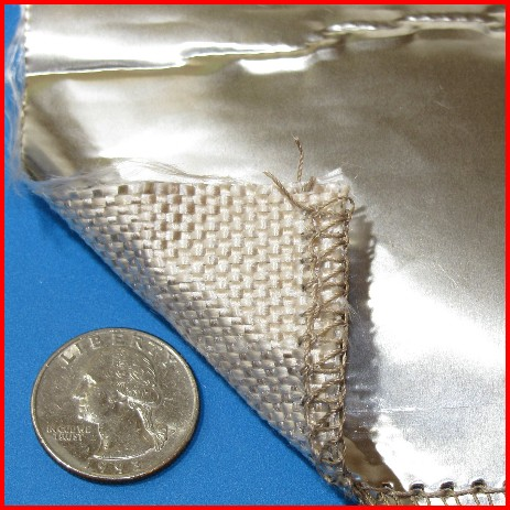 fiberglass fabric with stainless steel foil coating
