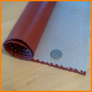 fiberglass fabric with silicone rubber coating 1 side high temperature heat resistant
