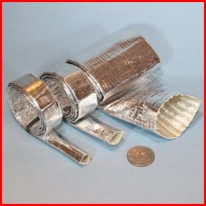 Aluminized PET coated fiberglass sleeve high temperature heat protection