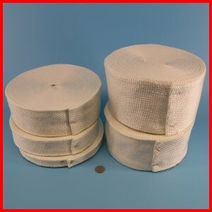 Woven fiberglass gasket and thermal insulating tape
