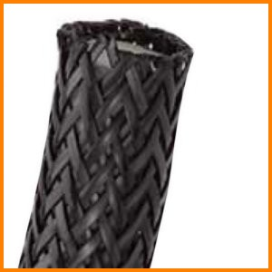 Nylon Braided Flattened Filamant Abrasion Protection Sleeve wire cable hose protection
