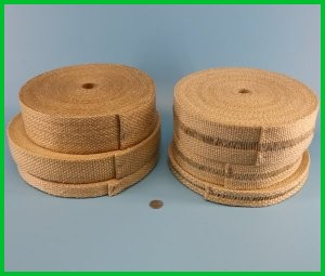Woven fiberglass vermiculite coated gasket thermal insulating tape high temperature heat resistant