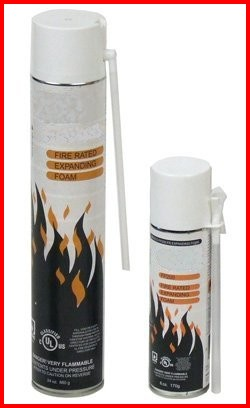 Fire Rated 2-hour Expanding Foam Firestop cable pipe transit