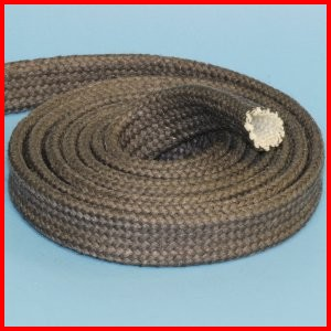 fiberglass braided sleeve with graphite coating high temperature heat resistant