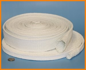 Fiberglass braided sleeve with soft PTFE coating chemical resistant seal
