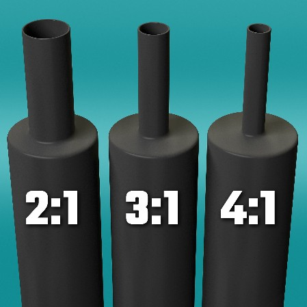 heat shrink tubing ratios
