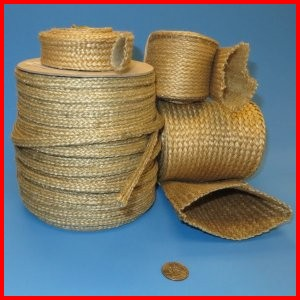 Fiberglass braided sleeve with vermiculite coating high temperature heat resistant